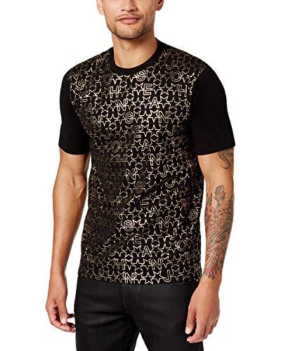 Sean John Star Logo Crew Neck Fashion Short Sleeve T-Shirt (PM Black, X-Large) from Sean John