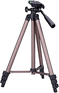 Camera Tripods WT3130 Protable Camera Tripod Stand with Rocker Arm for DSLR Camera Camcorder Brown Color : Brown Tripods