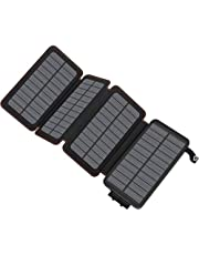 ADDTOP Solar Powerbank 25000mAh Solar Ladeger?t mit 2 USB Ports 2.1A Output