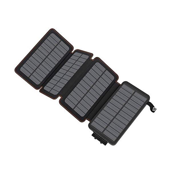 A ADDTOP Solar Powerbank 25000mAh Solar Ladegerät mit 2 USB Power Bank Wasserdicht Tragbare Externer Akku für…