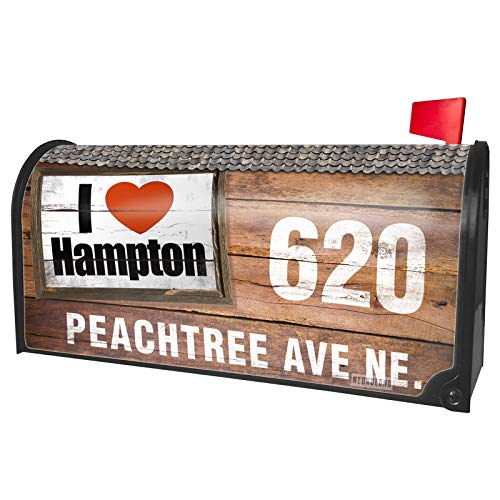 NEONBLOND Custom Mailbox Cover I Love Hampton Region: Virginia, United States