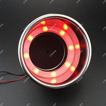 ICT Ronix par botellas soporte portavasos Soporte para bebidas Acero Inoxidable Rojo LED Lámpara Bombilla para Marino Yacht Barco Coche Camión Caravana: ...