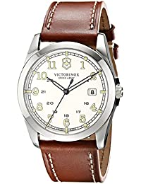 Unisex 241564 Infantry Analog Display Swiss Quartz Brown Watch