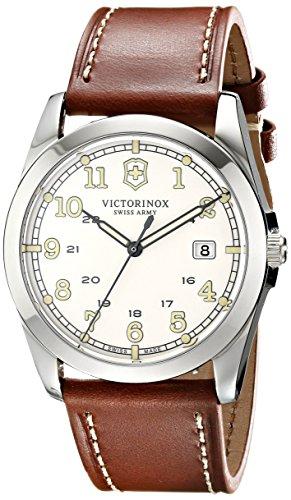 Victorinox-Unisex-241564-Infantry-Analog-Display-Swiss-Quartz-Brown-Watch