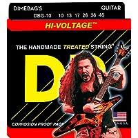 Cuerdas para guitarra eléctrica DR Strings, Dimebag Darrell Signature, Niquelado tratado, 10-46