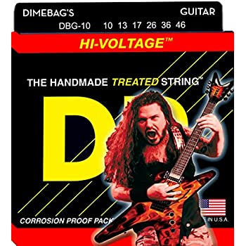 DR Strings Electric Guitar Strings, Dimebag Darrell Signature, Treated Nickel-Plated, 10-46