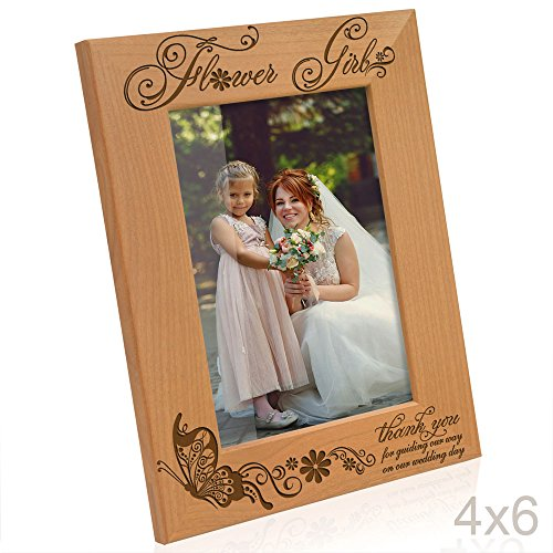 Kate Posh - Flower Girl - Thank you for guiding our way on our wedding day - Picture Frame (4x6 (Flowers Picture Frame)