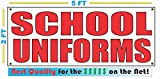 Red SCHOOL UNIFORMS 2X5 All Weather Full Color Banner Sign