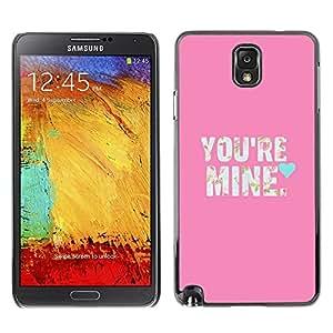Be Good Phone Accessory // Dura Cáscara cubierta Protectora Caso Carcasa Funda de Protección para Samsung Note 3 N9000 N9002 N9005 // Text Love So Girlfriend Heart Text