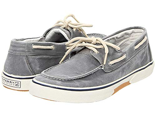 Sperry Top-Sider Men's Halyard 2-Eye Lace-Up,Salt Washed Grey,11.5 M US