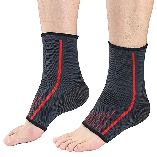 Lonew Ankle Brace, Best Ankle Support Suitable for Sports, Running, Jogging, Football etc – Joint Pain Relief, Reduce Foot Swelling, Increase Blood Circulation & and Injury Recovery