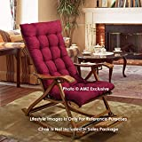 AMZ Exclusive Soft Rocking Chair Cushions Home Cotton Cushion Long Chair Pad (48 x 16 inches,Set of 1) (48 x 16 Inches, Bloody Red)