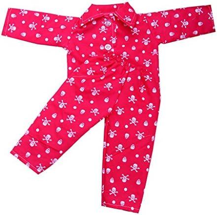 Perfeclan ドール 人形 服 パジャマセット 18 インチアメリカ女の子人形対応 ロジー