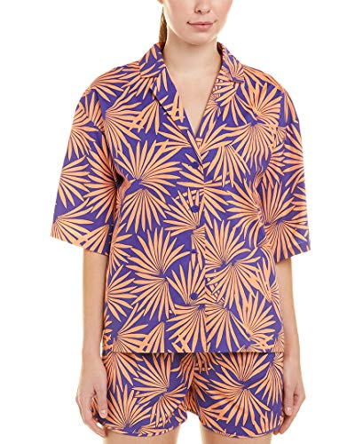 Diane von Furstenberg Womens Printed Beach Shirt, M, Purple from Diane von Furstenberg