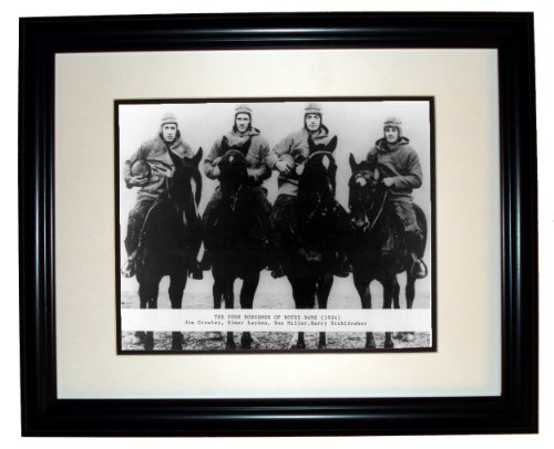Notre Dame Horsemen Four (The Four Horsemen of Notre Dame 8x10 Photo in an 11x14 Black Frame)