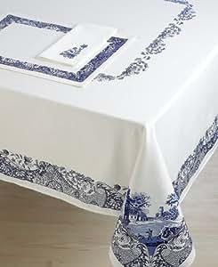 Amazon Com Spode Blue Italian Embroidered Fabric Napkins
