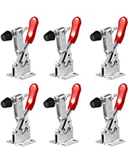 M-Aimee 6 Pack Hold Down Toggle Clamps Latch Antislip Red 201B Hand Tool 200Lbs Holding Capacity Antislip Horizontal Quick Release Heavy Duty Toggle Clamp Tool