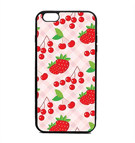 separation shoes 8133b e1578 Amazon.com: Phone Case Strawberry Cherry Print for iPhone 6: Cell ...