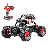 #8: RC Rock Crawler 4WD 4 Modes Steering Waterproof 2.4Ghz Radio Control Toy Monster Truck Off Road (1/16 Scale) Red