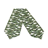 Oreayn Banana Leaf Table Runner 90 inch Green Weddings Parties Kitchen Table Dressers Living Room End Tables, Tropical Leaf Table Cloth Runner Dining Outdoor Dinner Coffee Table