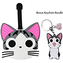 DIYJewelryDepot Chi's Sweet Home Cat PVC Luggage Tag Travel Bag Backpack Tags