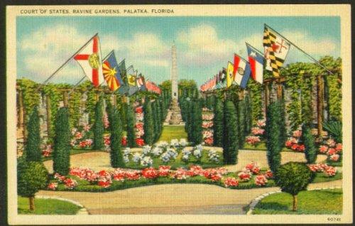 Court of States Ravine Gardens Palatka FL postcard 1940s at Amazon\'s ...