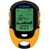 Sunroad Multifunction Outdoor LCD Digital Altimeter Barometer Compass Thermometer Hygrometer Alarm Clock Weather Forecast LED Torch