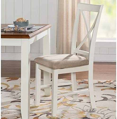 Powell Jane White Cushioned Dining Chair Set of 2 Light Grey