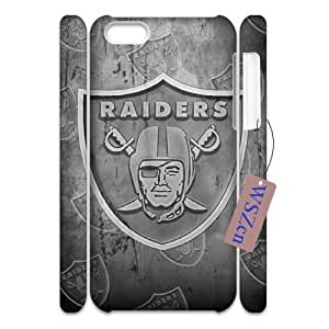 Raiders 3D Hard Back Durable Case for Iphone 5C,diy Raiders 3d case