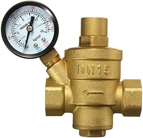 ゲージの流れが付いている Queenwind 調節可能な DN15 Bspp の黄銅の水圧力減少弁