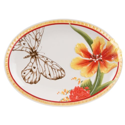 [Flower Market Collection, Oval Platter, 14-Inch] (Market Collection)