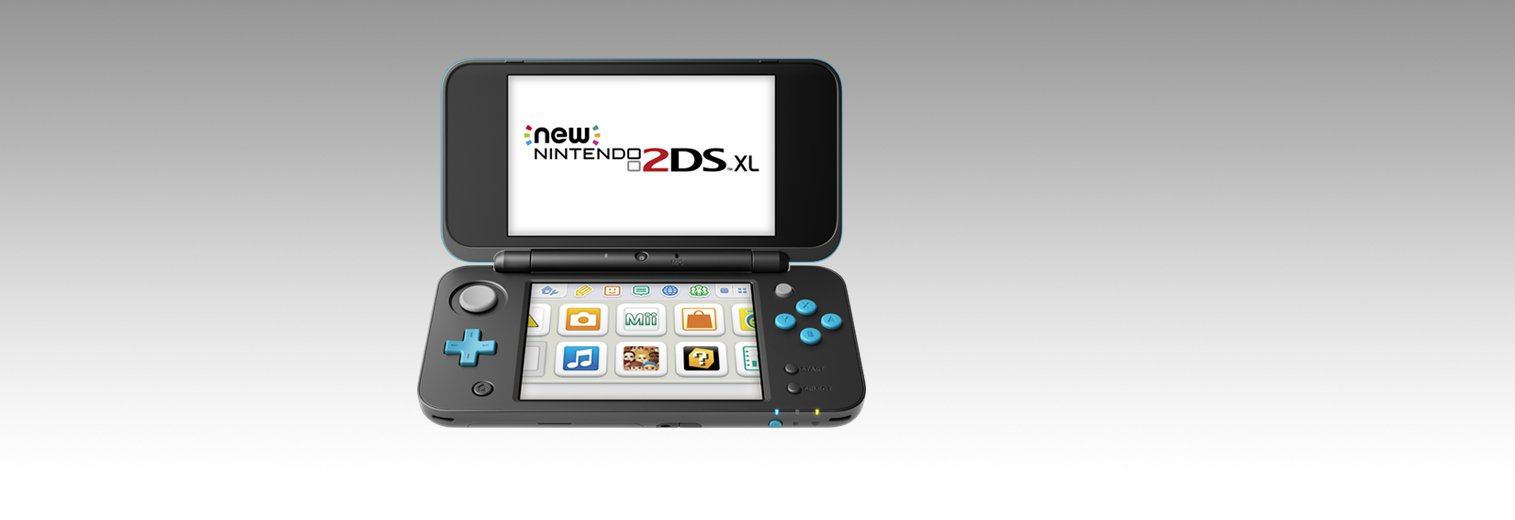 Nintendo New 2DS XL - Black + Turquoise by Nintendo (Image #2)