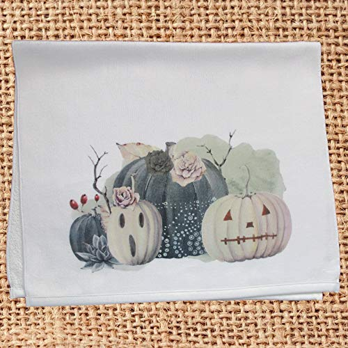Spooky Pumpkins Halloween Hand Towel for Kitchen or Bath Decor -