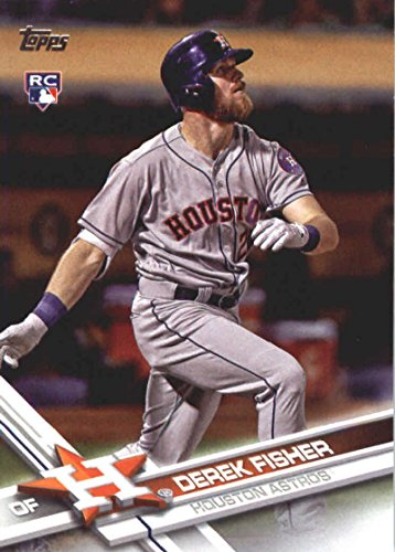 2017 Update Series #US90 Derek Fisher Houston Astros Baseball Rookie Card
