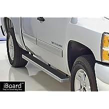 "iBoard Running Boards 4"" Fit 01-13 Chevy Silverado/GMC Sierra Crew Cab Nerf Bar Side Steps Tube Rail Bars Step Board"