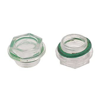 Compresor de aire de 25 mm del nivel de aceite líquido Mirilla 2pcs roscado Dia: Amazon.es: Bricolaje y herramientas