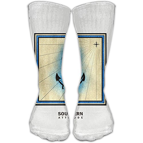 Pro Baseball Anchor Bases (ZHONGJIAN Unisex Knee High Long Socks Southern Attitude Salty Anchor Navy Blue Preppy Sport Wrist Socks 30cm)