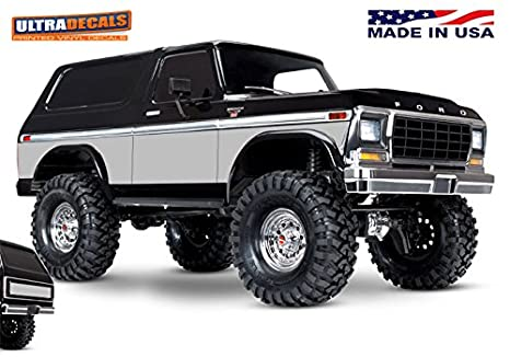 Amazon com: Ultradecals Silver color Traxxas TRX-4 Bronco