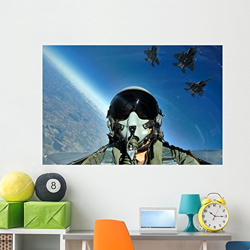 Wallmonkeys Three-Ship Formation F-15e Strike Wall Mural Peel and Stick Graphic (60 in W x 40 in H) WM112490