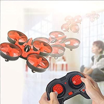 RCtown ELF Mini Drone for Kids, 2.4GHz 4CH Mini UFO RC Quadcopter Drone with 6-Axis Gyro Headless Mode Remote Control Nano Quadcopter (Red): Toys & Games