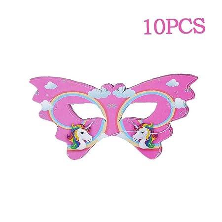 CULER 10pcs Unicornio Máscara De Ojo De Fiesta De Cumpleaños Decoración Partido del Unicornio De La Historieta Unicornio Decoración Fiesta Temática