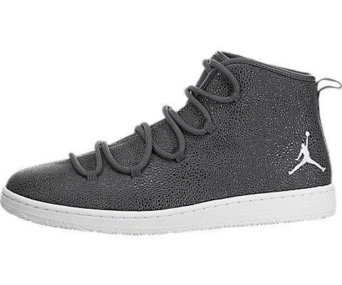 (Jordan Nike Mens Galaxy Dark Grey/White Leather Size 9)