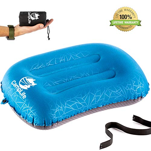 CAMPLIFE Ultralight Inflatable Camping Travel Pillow – ALUFT 2.0 Compressible, Compact, Comfortable, Ergonomic Inflating…