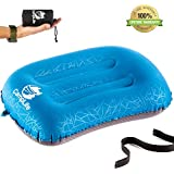 CAMPLIFE Ultralight Inflatable Camping Travel Pillow - ALUFT 2.0 Compressible, Compact, Comfortable, Ergonomic Inflating Pillows for Neck & Lumbar Support While Camp, Hiking, Backpacking