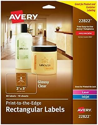 Amazon Com Avery Easy Peel Print To The Edge Rectangle Labels 2 X