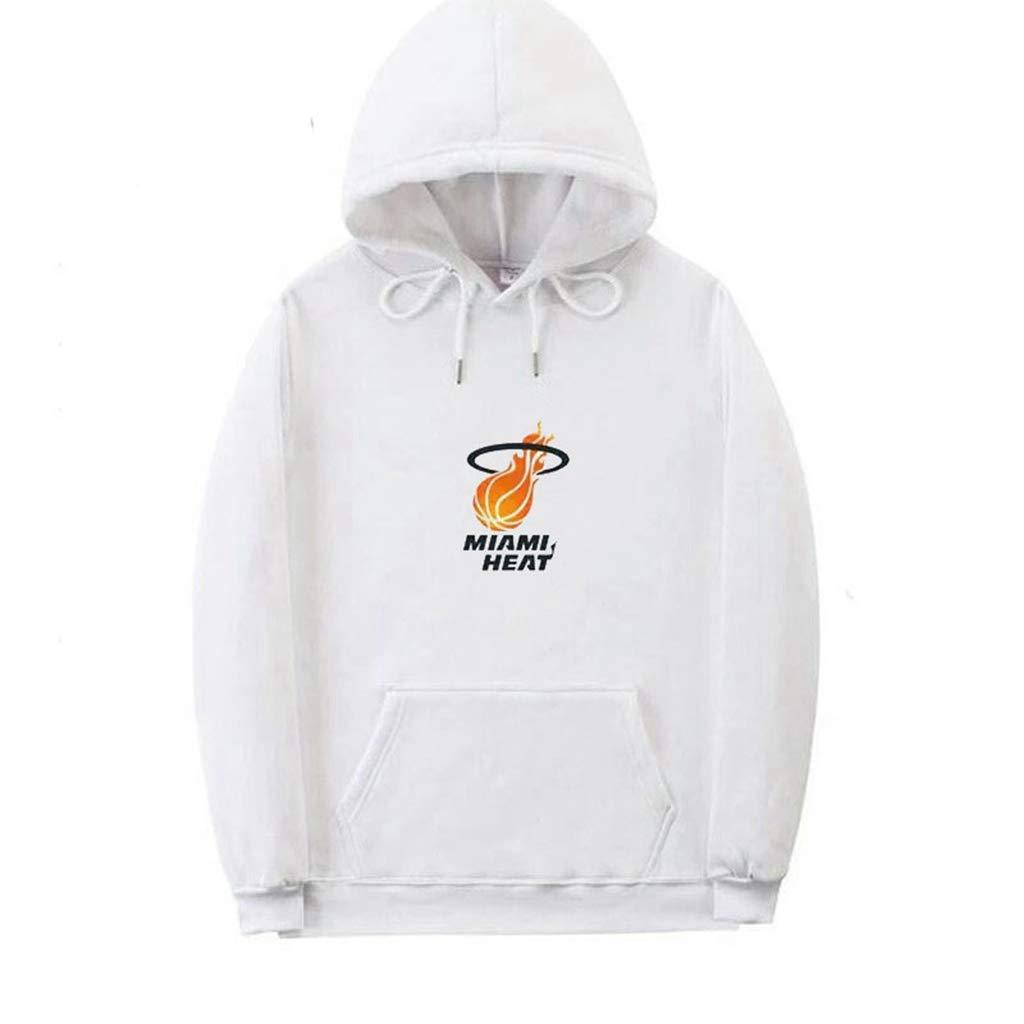 Jerseys De Miami Heat Uniformes De Baloncesto Casuales Neutrales Ropa Deportiva De Baloncesto Transpirable Y Suelta WZHHH Sudaderas con Capucha De Baloncesto para Hombres