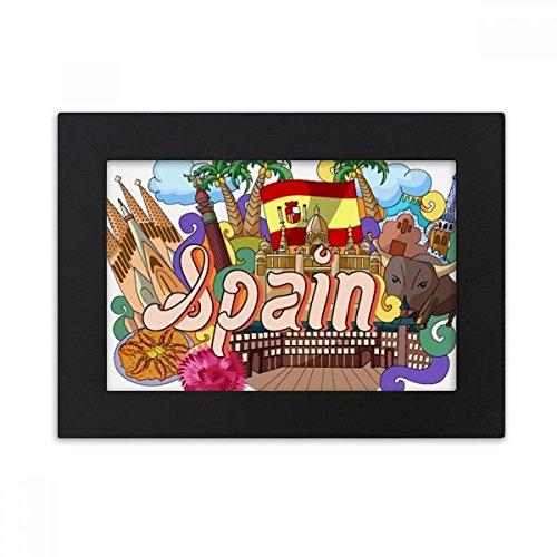 DIYthinker Prado Seafood Spain Graffiti Desktop Photo Frame Black Picture Art Painting 5x7 inch by DIYthinker