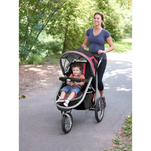 2014 Graco FastAction Fold Jogger Click Connect Stroller, Azalea