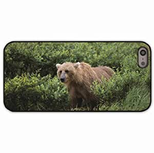 iPhone 5 5S Black Hardshell Case grass gait Desin Images Protector Back Cover