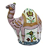 Indian Camel Design Kettle Cover Kashmiri Embroidery Quilted Tea Cover Gift